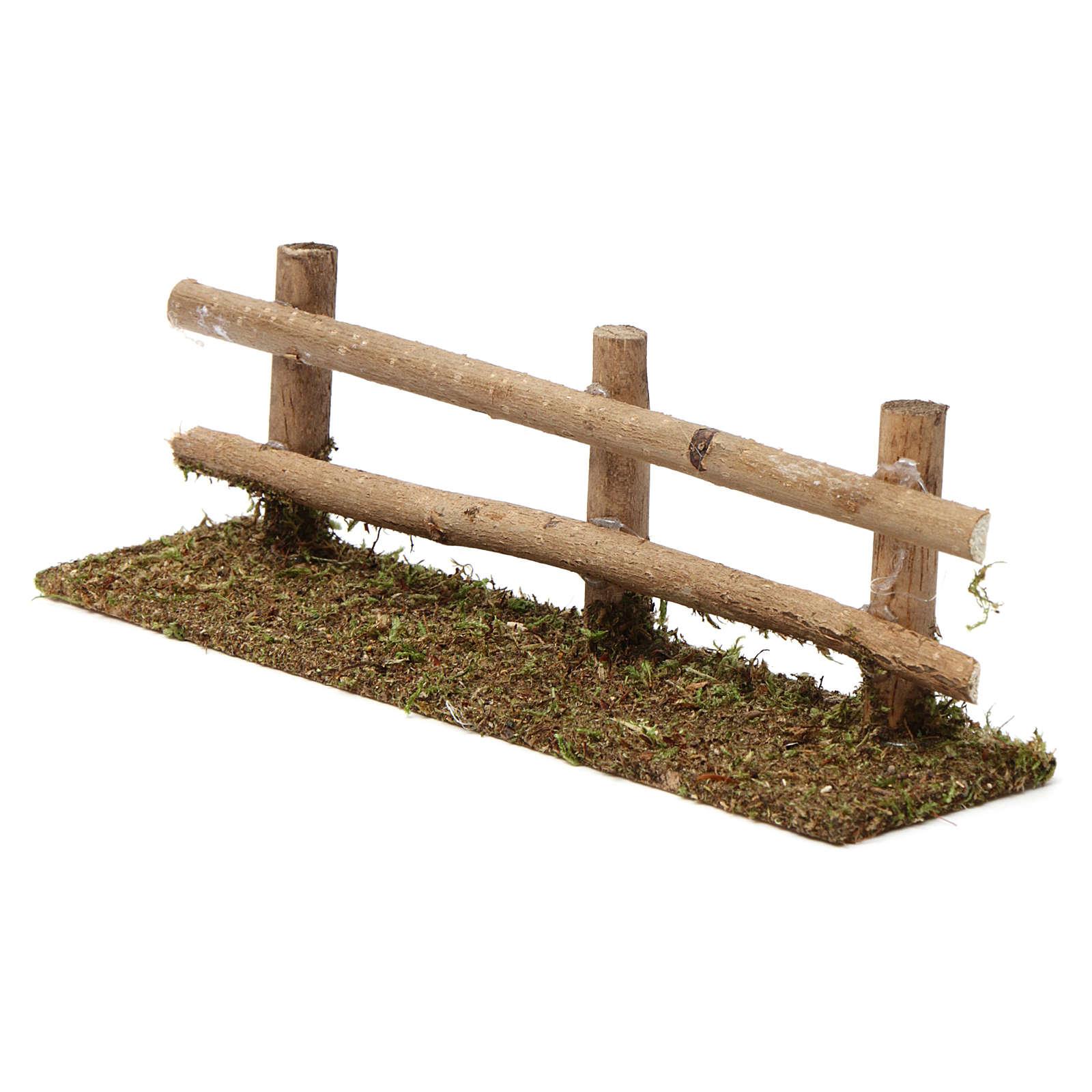 Staccionata in legno 5X20X5 cm per presepi 7-8 cm 4