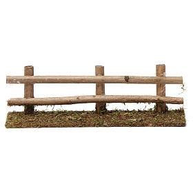 Staccionata in legno 5X20X5 cm per presepi 7-8 cm s1