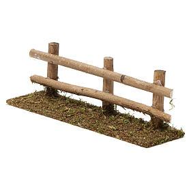 Staccionata in legno 5X20X5 cm per presepi 7-8 cm s2