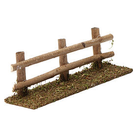 Staccionata in legno 5X20X5 cm per presepi 7-8 cm s3