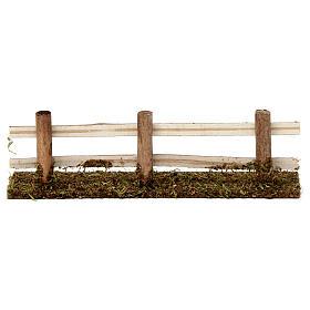 Staccionata in legno 5X20X5 cm per presepi 7-8 cm s4