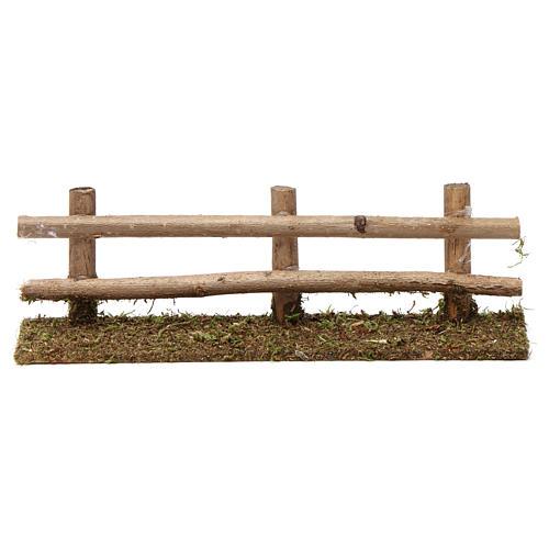Staccionata in legno 5X20X5 cm per presepi 7-8 cm 1