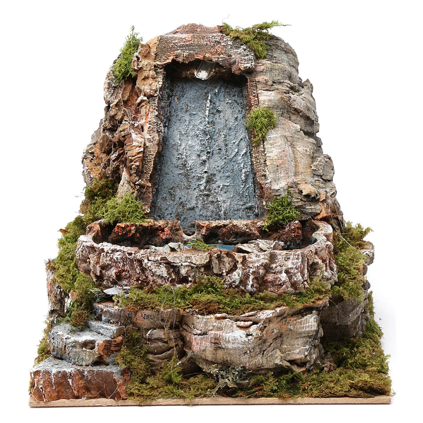 Wasserfall und kleiner See, für 9-10 cm Krippe, 20x20x25 cm 4