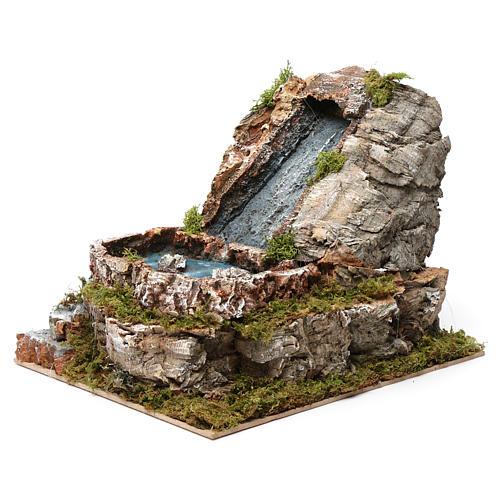Wasserfall und kleiner See, für 9-10 cm Krippe, 20x20x25 cm 2