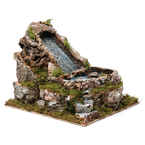 Waterfalls and small lake 20x20x25 cm for Nativity Scene 9-10 cm 3
