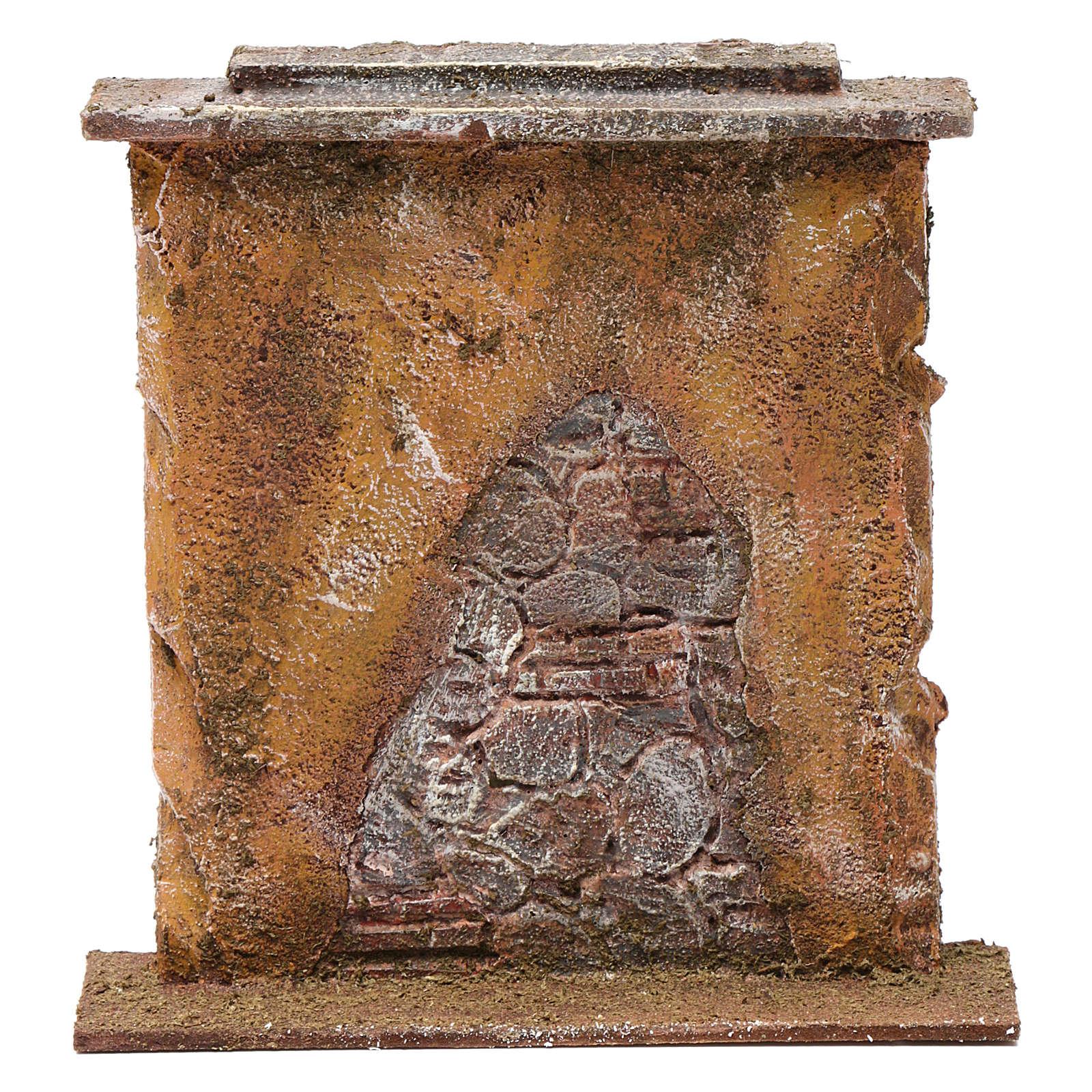Muro con mattoni per presepe 10 cm 20x20x5 cm 4