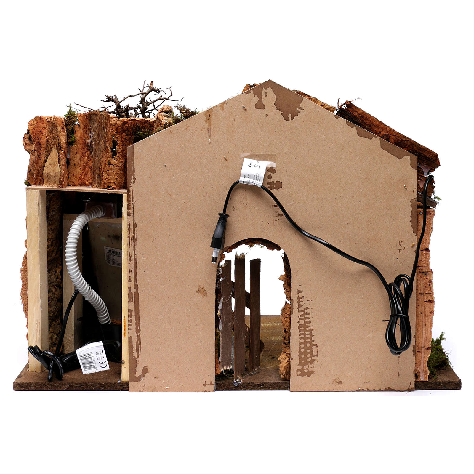 Open Barn with Waterfall Electric Pump and Lights for Nativity 45X60X35 cm 4