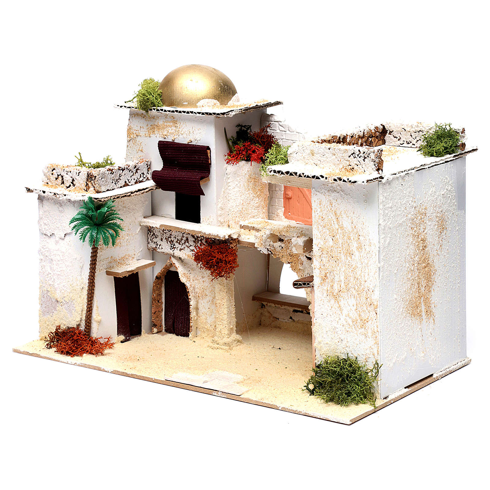Arab house for Nativity Scene 25X35X20 cm 4