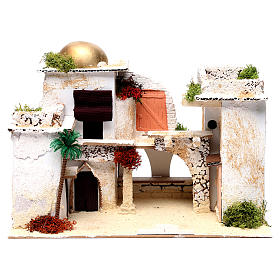 Arab house for Nativity Scene 25X35X20 cm s1