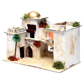 Arab house for Nativity Scene 25X35X20 cm s2
