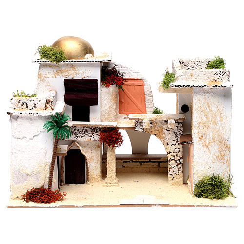 Arab house for Nativity Scene 25X35X20 cm 1