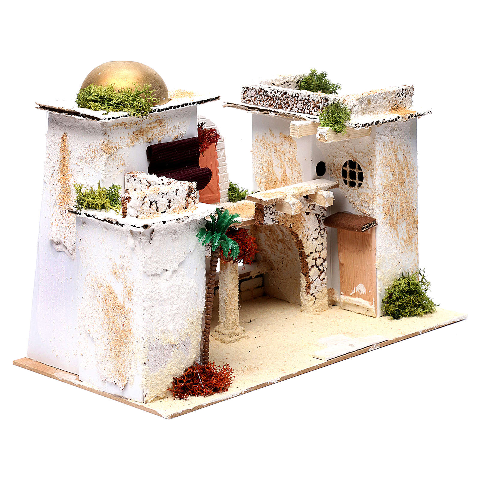 Casa árabe para belén 25x35x20 cm 4
