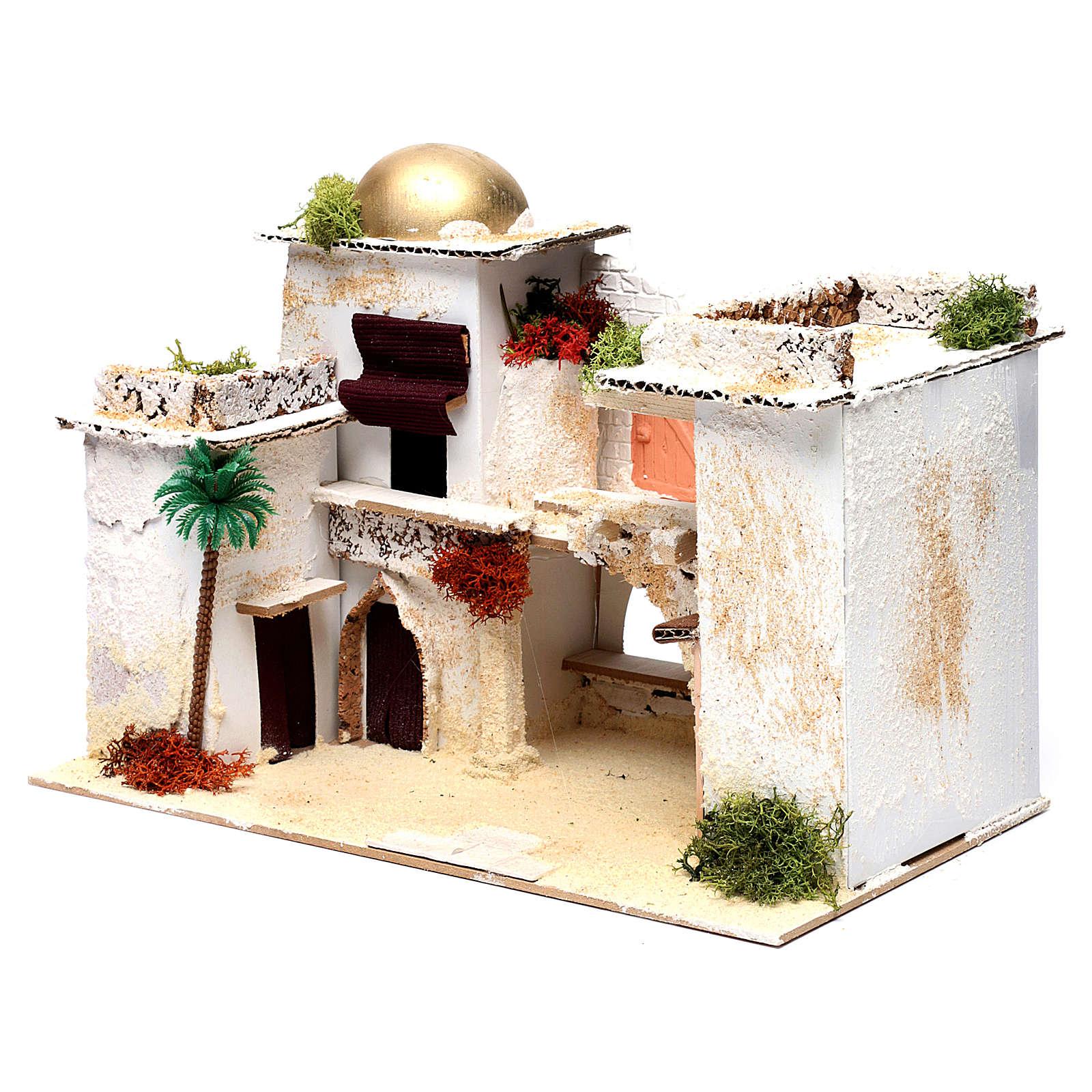 Maison arabe pour crèche 25x35x20 cm 4