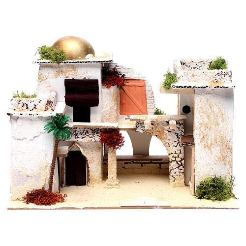 Maison arabe pour crèche 25x35x20 cm 1