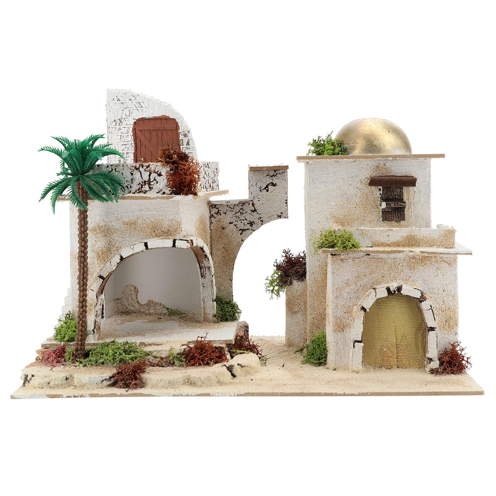 Casa árabe con balcón para belén 25x35x20 cm 4