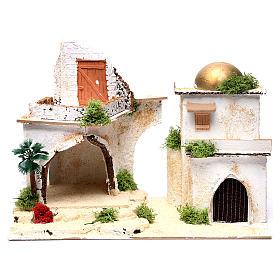 Casa araba con balcone per presepe 25X35X20 cm  s1