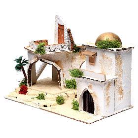 Casa araba con balcone per presepe 25X35X20 cm  s2