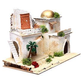 Casa araba con balcone per presepe 25X35X20 cm  s3