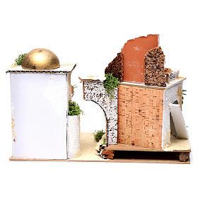 Casa araba con balcone per presepe 25X35X20 cm  s4
