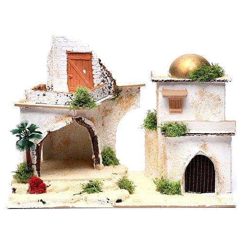 Casa araba con balcone per presepe 25X35X20 cm  1