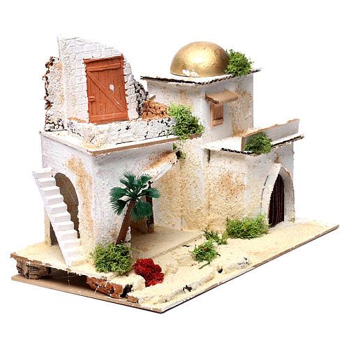 Casa araba con balcone per presepe 25X35X20 cm  3