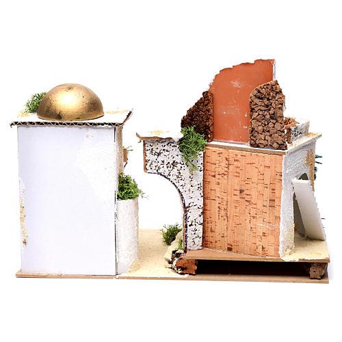 Casa araba con balcone per presepe 25X35X20 cm  4