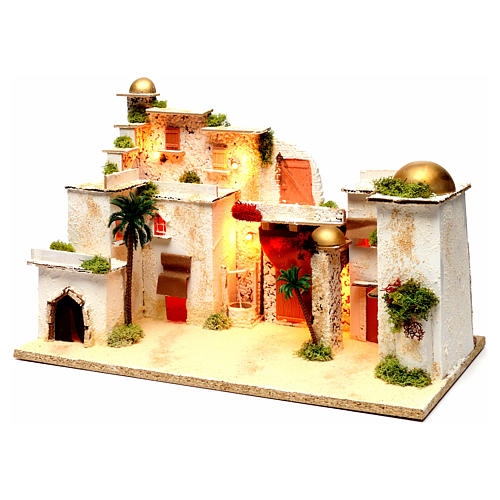 Arab landscape with lights for Nativity Scene 35x50x30 cm 2