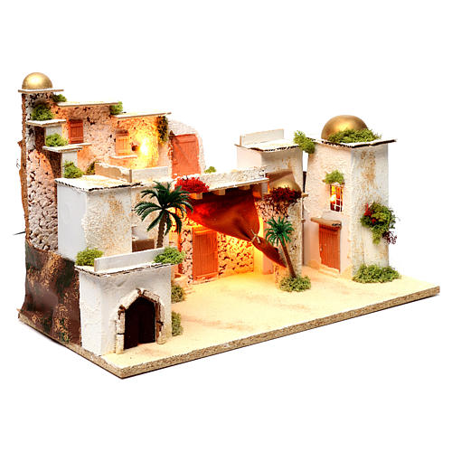 Arab landscape with lights for Nativity Scene 35x50x30 cm 3