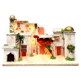 Arab Panorama with Lights for Nativity 35X50X30 cm s1