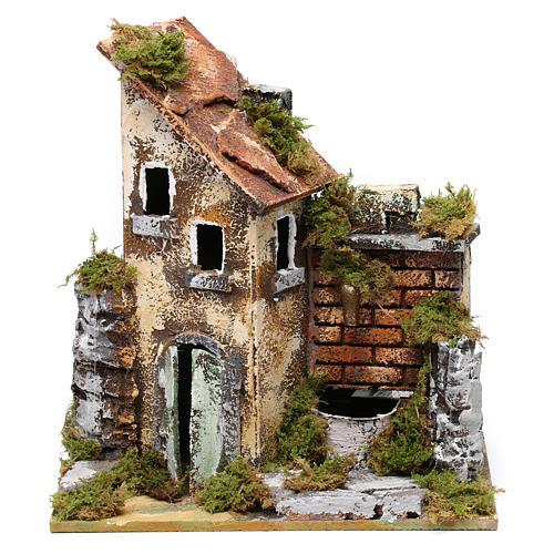 Fontaine avec pompe et maison pour crèche 25x20x15 cm 1