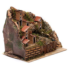 Stream with Pump and Houses for Nativity 20X20X15 cm s2