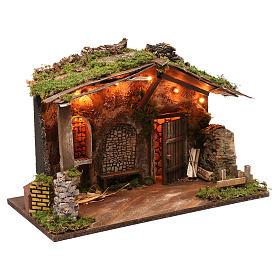 Cabane pour crèche avec éclairage 40x50x30 cm s3