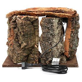 Capanna per presepe con luce e albero, dimensioni 25X30X20 cm  s4
