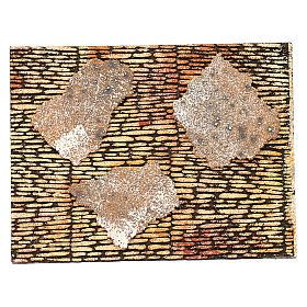 Muro romano con intonaco per presepe 25x35 cm s1