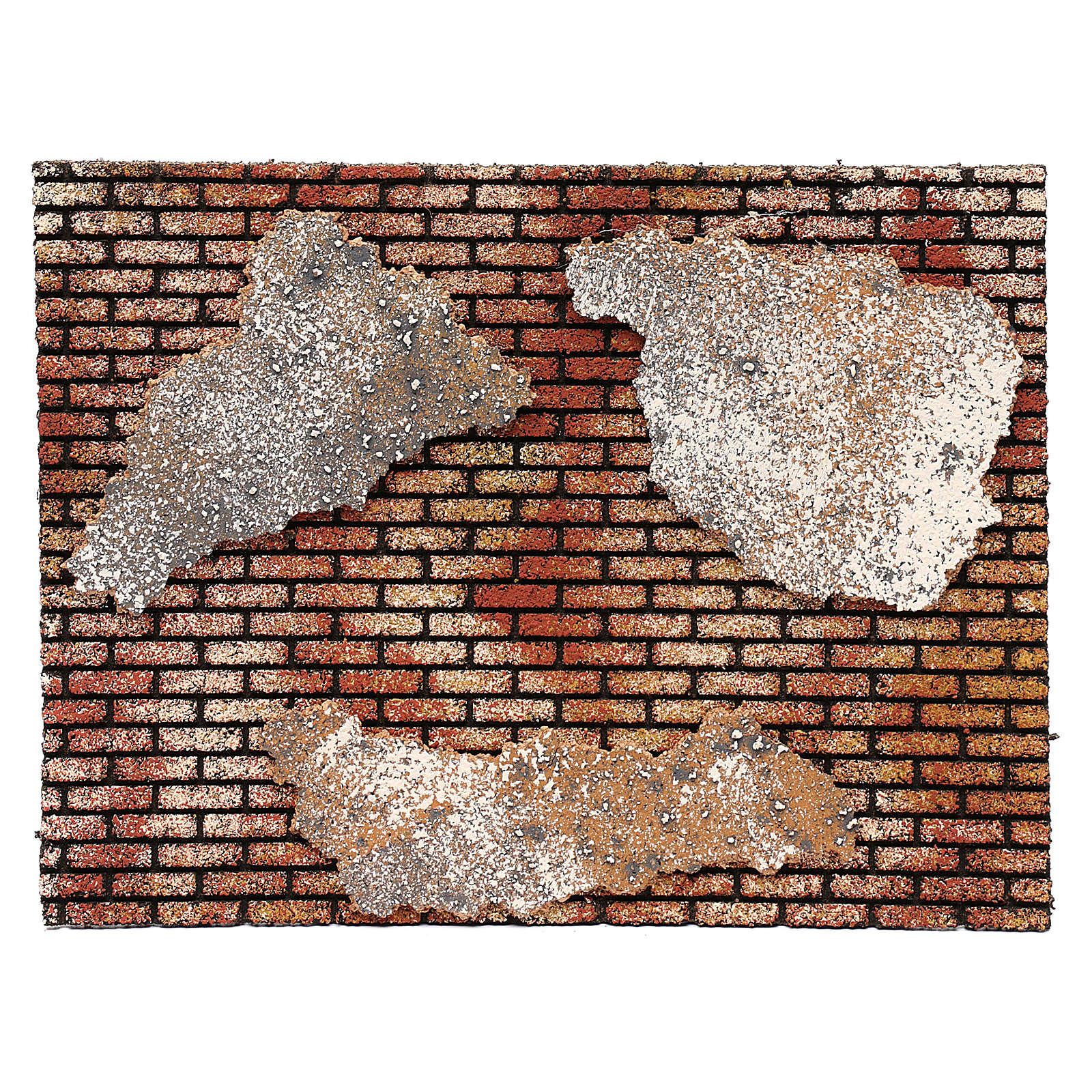 Muro in mattoni con intonaco 25x35 4