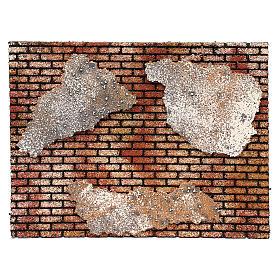 Muro in mattoni con intonaco 25x35 s1