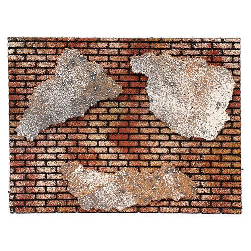 Muro in mattoni con intonaco 25x35 1