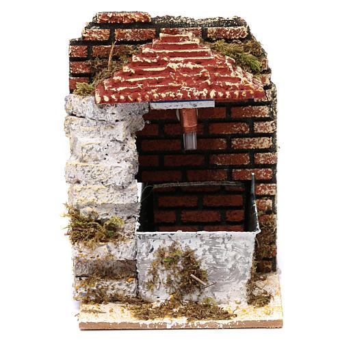 Fontana per presepe con tettoia 15x10x15 cm 1