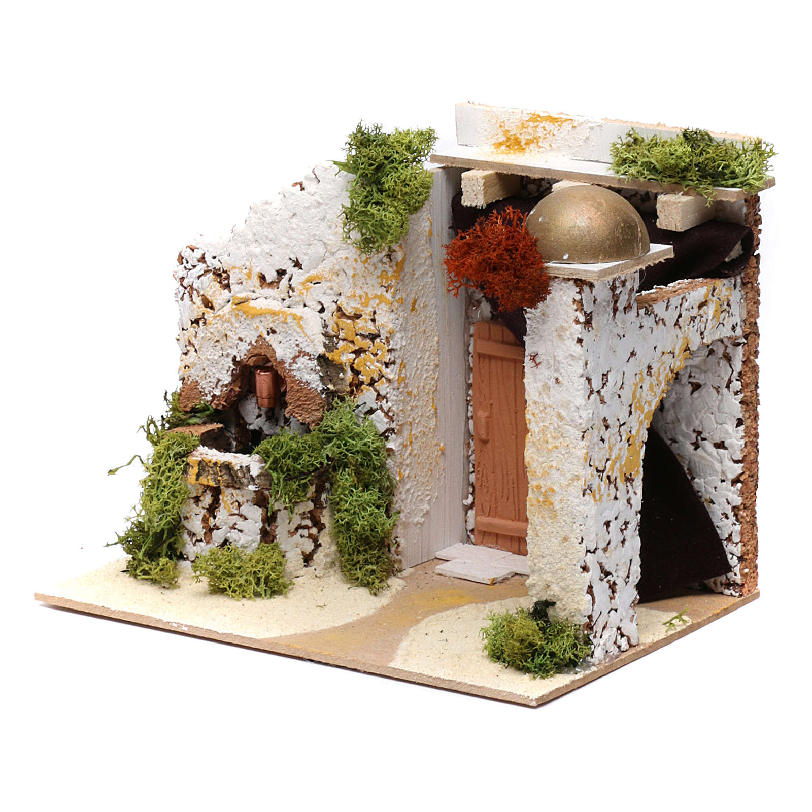 Arab style house with fountain 15x20x15 cm 4