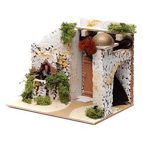 Arab style house with fountain 15x20x15 cm s2