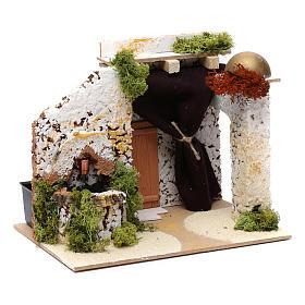 Arab style house with fountain 15x20x15 cm s3