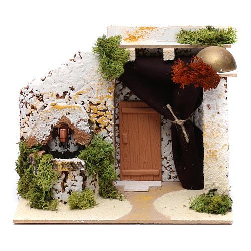 Arab style house with fountain 15x20x15 cm 1