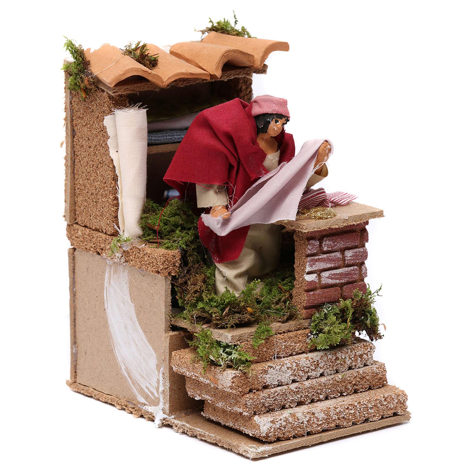 Animated drapper scene for Nativity Scene 10cm 3