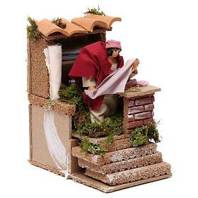 Animated drapper scene for Nativity Scene 10cm s3