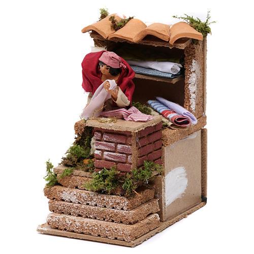Animated drapper scene for Nativity Scene 10cm 2