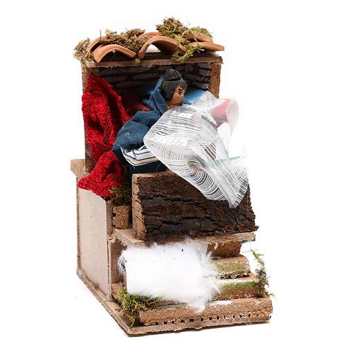 Animated drapper scene for Nativity Scene 10cm 5