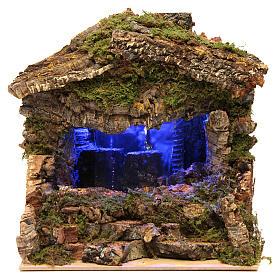 Grotte avec cascade et lumières 25x25x20 cm s1