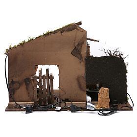 Capanna con mulino e luce 45x60x35 cm s4