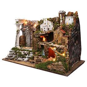 Villaggio con cascata e luci 50x75x40 cm s2