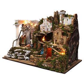 Aldea con Natividad y cascada 50x75x40 cm s2